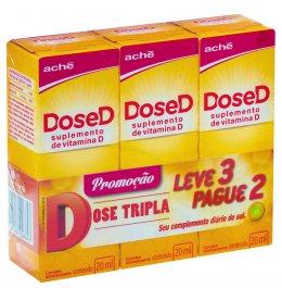 Kit Suplemento de Vitamina D DoseD 200UI Gotas com 3 unidades
