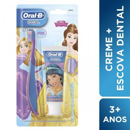 Kit Escova + Creme Dental Oral-B Stages Princesas/Toy Story