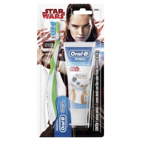 Kit Escova Dental Oral-B + Creme Star Wars 100g | Drogasil.com
