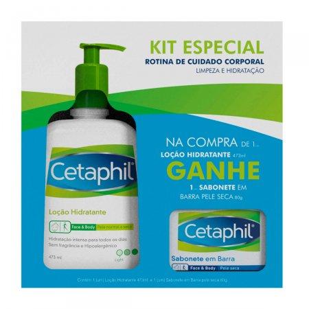 Kit Cetaphil Loção Hidratante + Cetaphil Sabonete Pele Seca