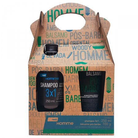 Kit Needs Shampoo 3 em 1 + Bálsamo Pós-Barba Homme