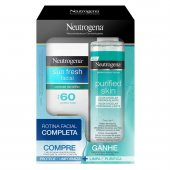 Kit Neutrogena Sun Fresh FPS60 com Cor + Água Micelar Purified Skin