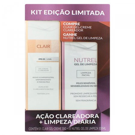 Kit Gel-Creme Clareador Profuse Clair + Gel de Limpeza Facial Nutrel