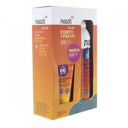 Kit Protetor Solar Aerossol Needs FPS50 + Protetor Solar Facial FPS60