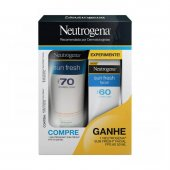 Kit Protetor Solar Corporal Neutrogena Sun Fresh FPS70 + Protetor Solar Facial FPS60