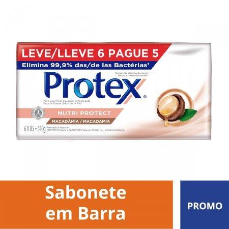 Kit Sabonete Antibacteriano Protex Macadâmia