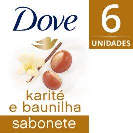 Kit Sabonete em Barra Dove Karité e Baunilha