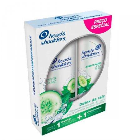 Kit Shampoo + Condicionador de Cuidados com a Raiz Head & Shoulders Detox da Raiz