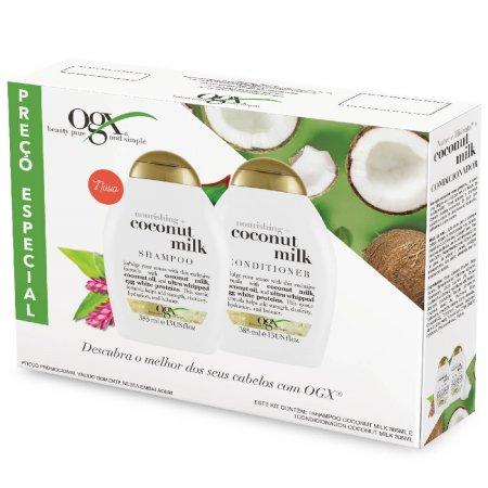 Kit Shampoo + Condicionador OGX Coconut Milk