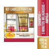 Kit Pantene Shampoo Cachos + Condicionador 3 Minutos Milagrosos Cachos