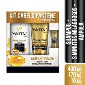 Kit Pantene Hidro-Cauterização Shampoo + Condicionador + Ampola
