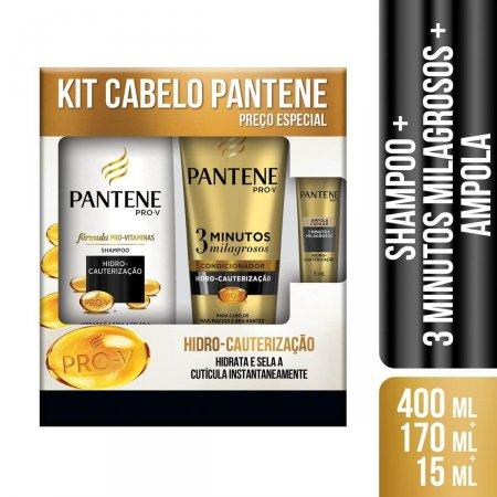 Kit Shampoo + Condicionador Pantene Hidro Cauterização - Grátis Ampola