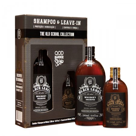 Kit Shampoo QOD School Whiskey + School Whiskey Leave-In
