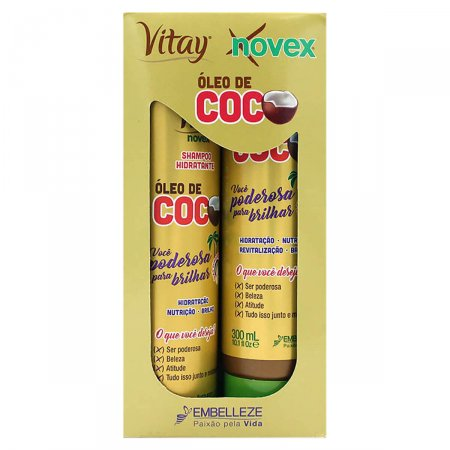 Kit Shampoo + Tratamento Condicionante Novex Óleo de Coco