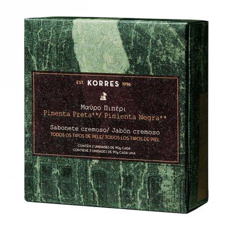 Kit Sabonete em Barra Korres Pimenta Preta