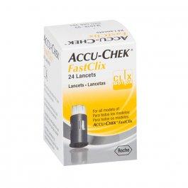 Lancetas Accu-Chek Fastclix Controle de Glicose com 24 lancetas