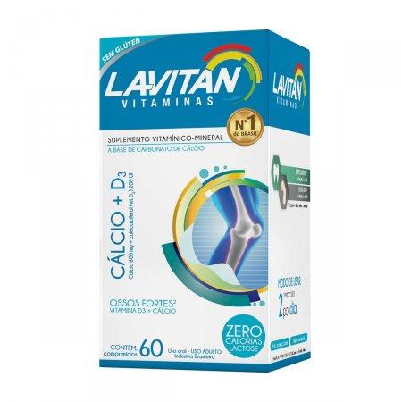 Lavitan Cálcio + D3 com 60 Comprimidos   Drogasil.com