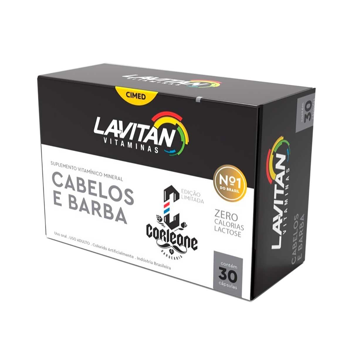 Suplemento Vitamínico Lavitan Cabelos e Barba com 30 cápsulas 30 Cápsulas