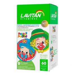 Suplemento Vitamínico Infantil Lavitan Kids com 60 comprimidos