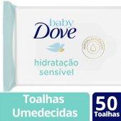 DOVE BABY LENCOS UMEDECIDOS HIDRATACAO SENSIVEL 50 UNIDADES