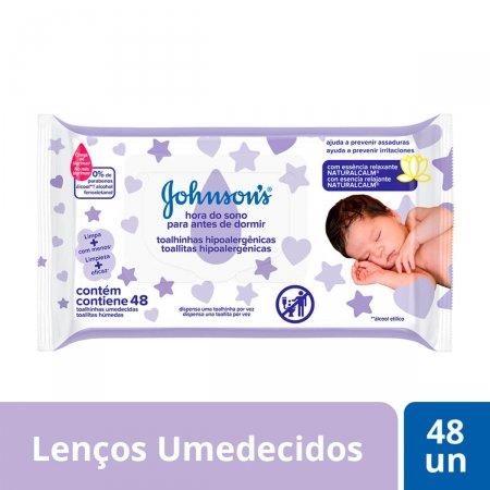 JOHNSONS BABY TOALHAS UMEDECIDAS HORA DO SONO COM 48 UNIDADES