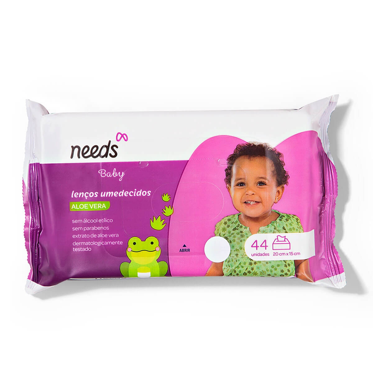 Lenço Umedecido Needs Baby Aloe Vera 44 Unidades