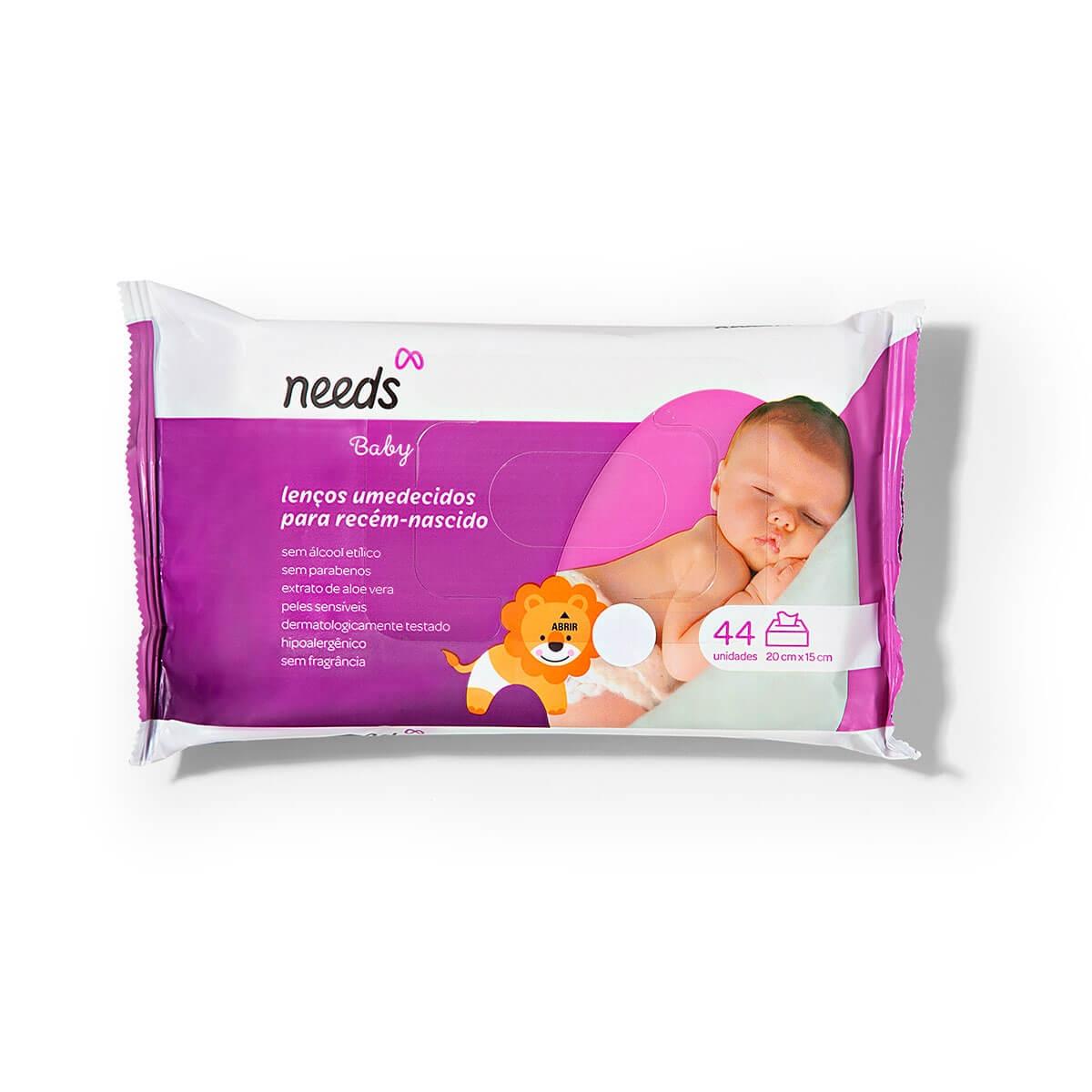 Lenço Umedecido Needs Baby Recém-Nascido 44 Unidades