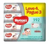 HUGGIES LENCOS UMEDECIDOS ONE&DONE LEVE 4 PAGUE 3