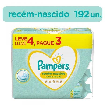 PAMPERS LENCOS UMEDECIDOS RECEM-NASCIDO PACK L4P3 48 UNIDADES CADA