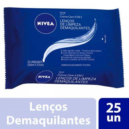 NIVEA LENCO DE LIMPEZA DEMAQUILANTE CREME&CARE 25 UNIDADES