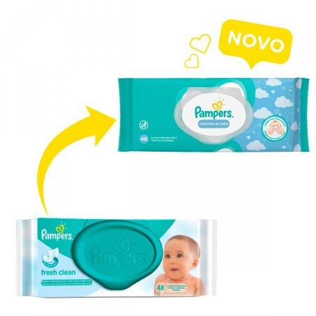 Lenços Umedecidos Pampers Cheirinho de Bebê com 48 Unidades | Drogasil.com Foto 3