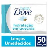 DOVE BABY LENCOS UMEDECIDOS HIDRATACAO ENRIQUECIDA 50 UNIDADES