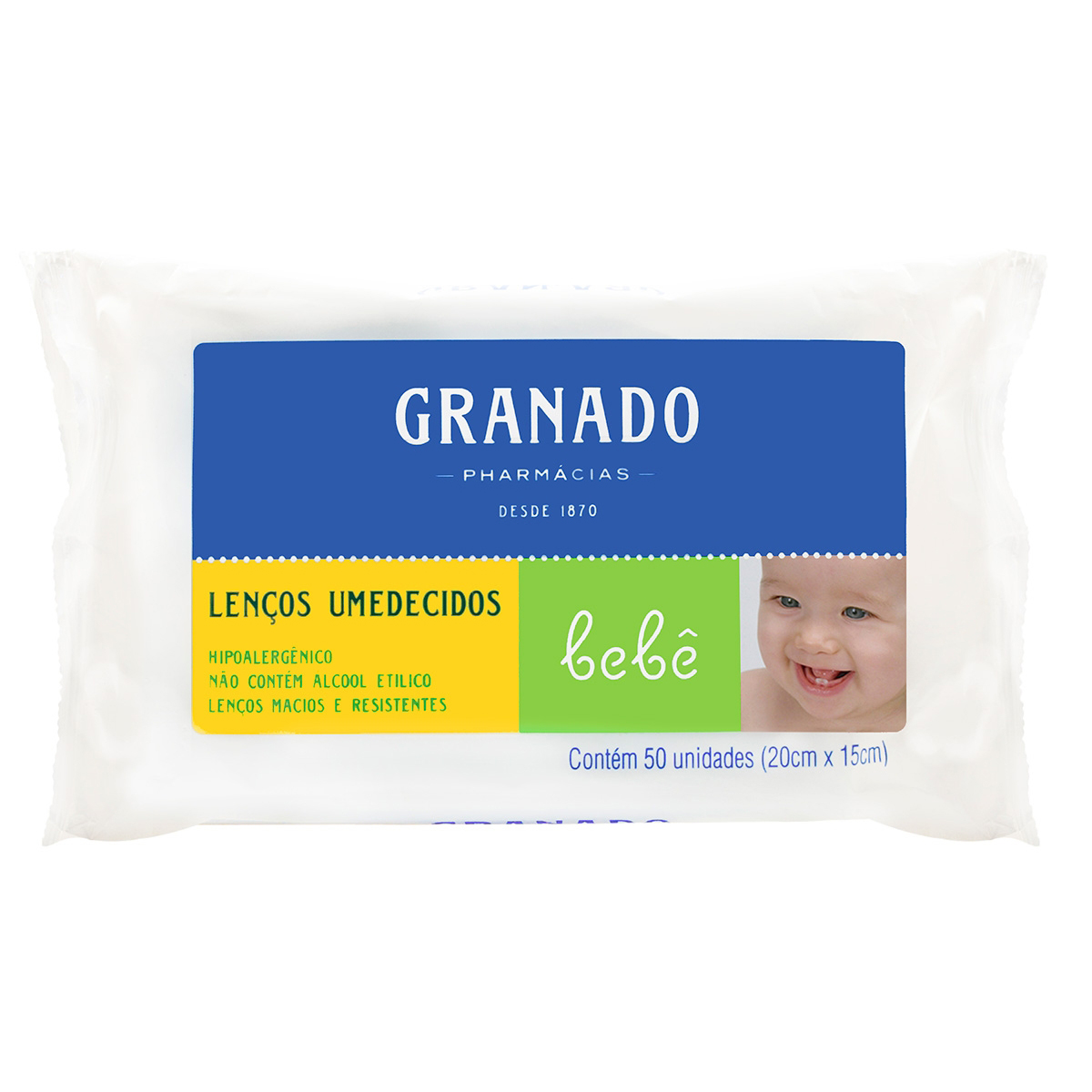 Lenços Umedecidos Granado Bebê com 50 unidades 50 Lenços