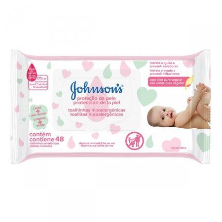 Lenços Umedecidos Johnsons Baby Extra Cuidado 48 Unidades | Drogasil.com Foto 1