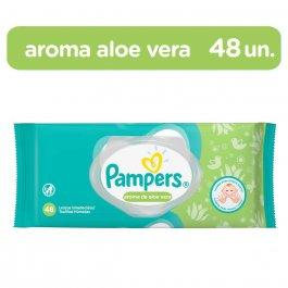PAMPERS LENCOS UMEDECIDOS AROMA DE ALOE VERA 48 UNIDADES