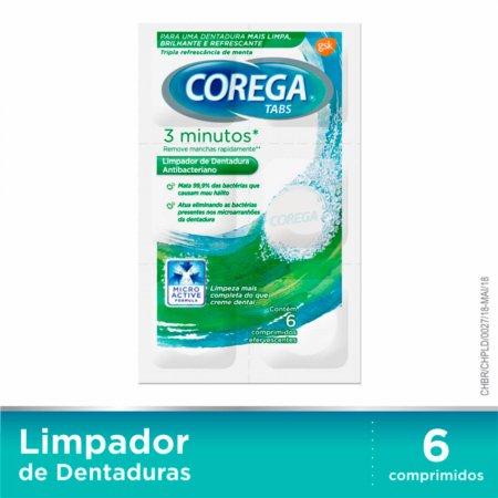 COREGA TABS BRANQUEADOR DENTADURA 6 COMPRIMIDOS