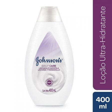 Loção Hidratante Johnson's Daily Care Lavanda e Camomila com 400ml
