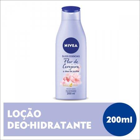 Loção Deo-Hidratante Nivea Óleos Essenciais Flor de Cerejeira