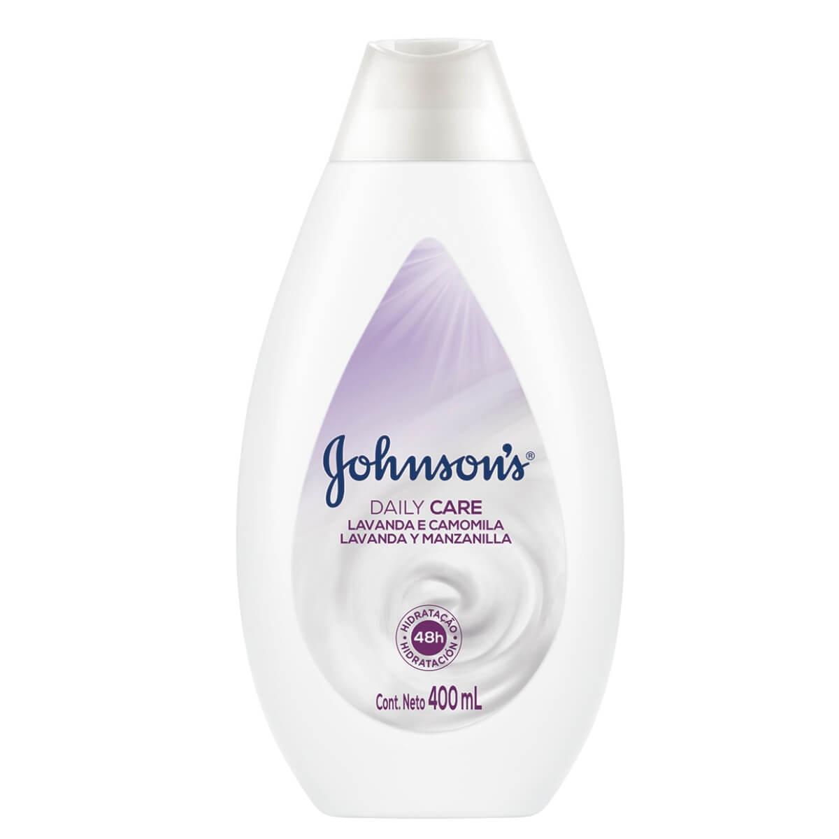 Loção Hidratante Johnson's Daily Care Lavanda e Camomila com 400ml Johnson e Johnson 400ml