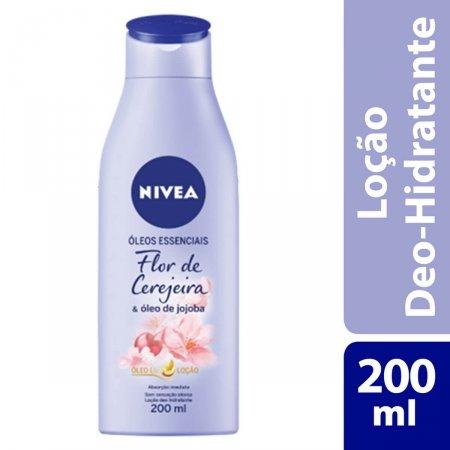 Loção Hidratante Nivea Óleos Essenciais Flor de Cerejeira