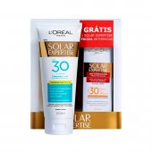 Kit Protetor Solar L'oréal Expertise FPS30 + Protetor Facial Antirrugas FPS30