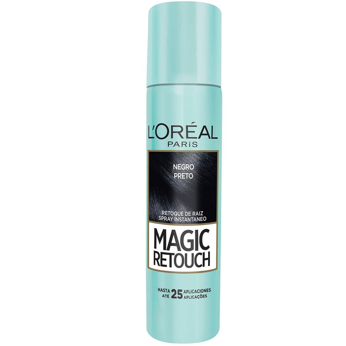 Retoque de Raiz Instantâneo em Spray L'Oréal Magic Retouch Preto com 75ml 75ml