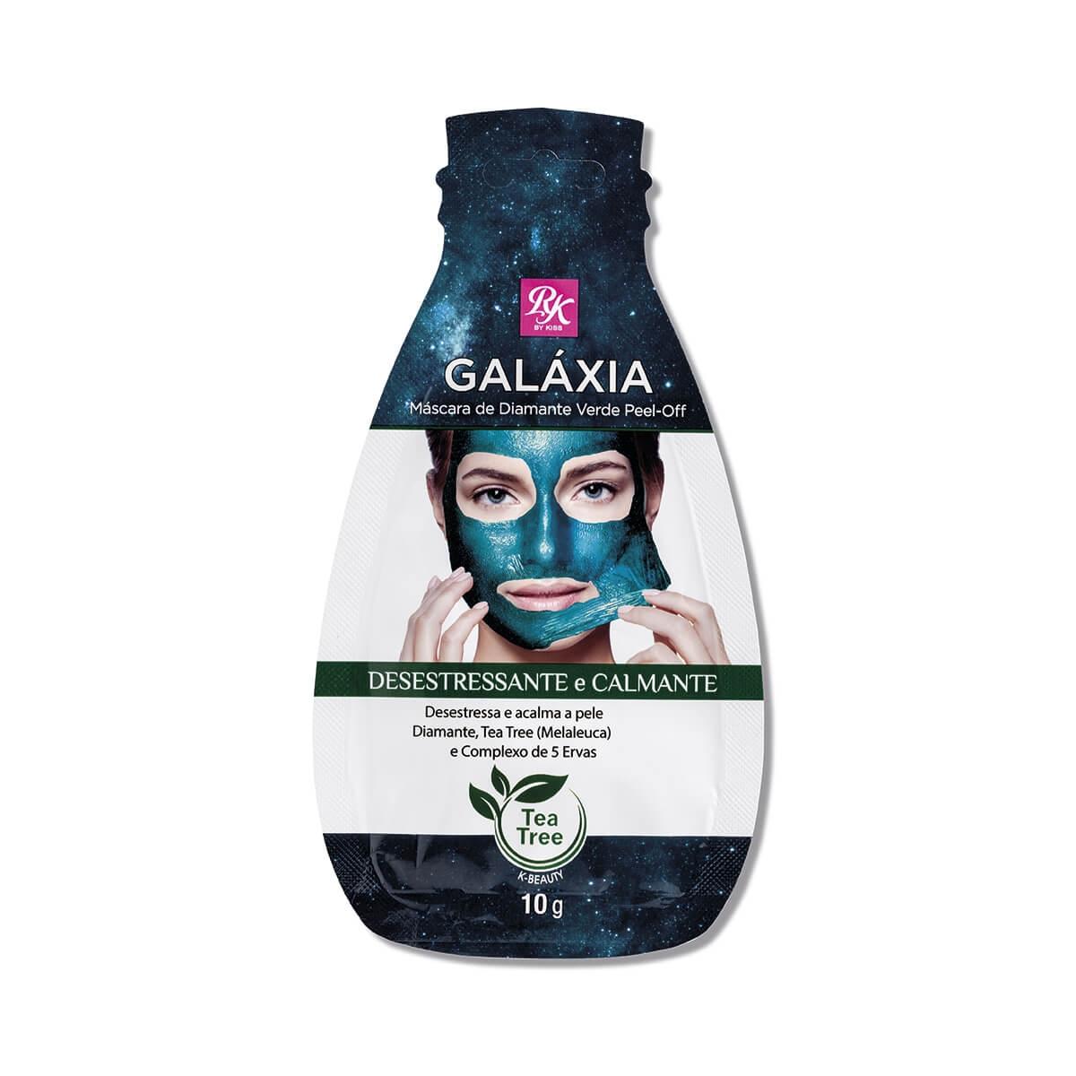 Máscara Facial de Diamante Verde Peel-Off RK By Kiss Desestressante e Calmante 10g