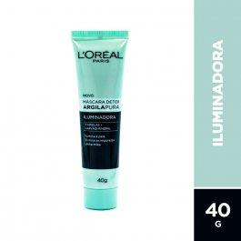 Máscara Facial Detox L'Oréal Argila Pura Iluminadora com 40g