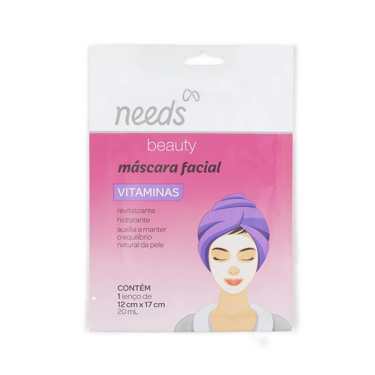 Máscara Facial Needs Vitaminas 1 Unidade