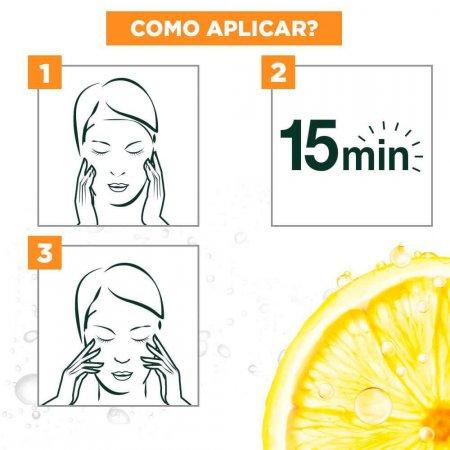 Máscara Facial em Tecido Garnier SkinActive Uniform&Matte 28g | Drogasil.com Foto 5