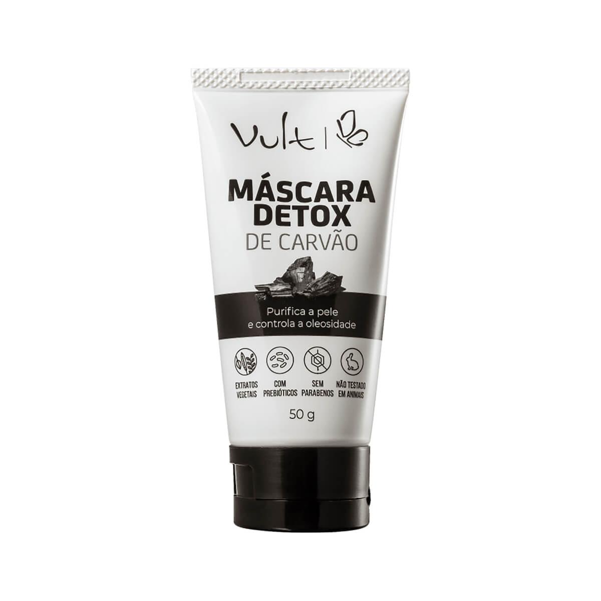 Máscara Facial Vult Detox de Carvão 50g 50g
