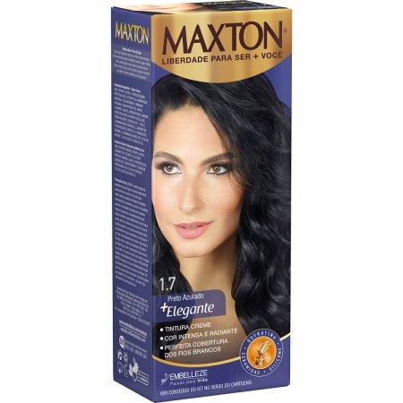 Kit Coloração Maxton Preto Azulado 1.7