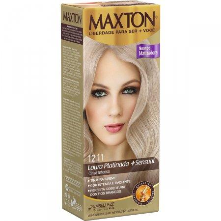 Kit Coloração Maxton Louro Platina Cinza 12.11