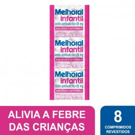 Melhoral Infantil 85mg com 8 Comprimidos